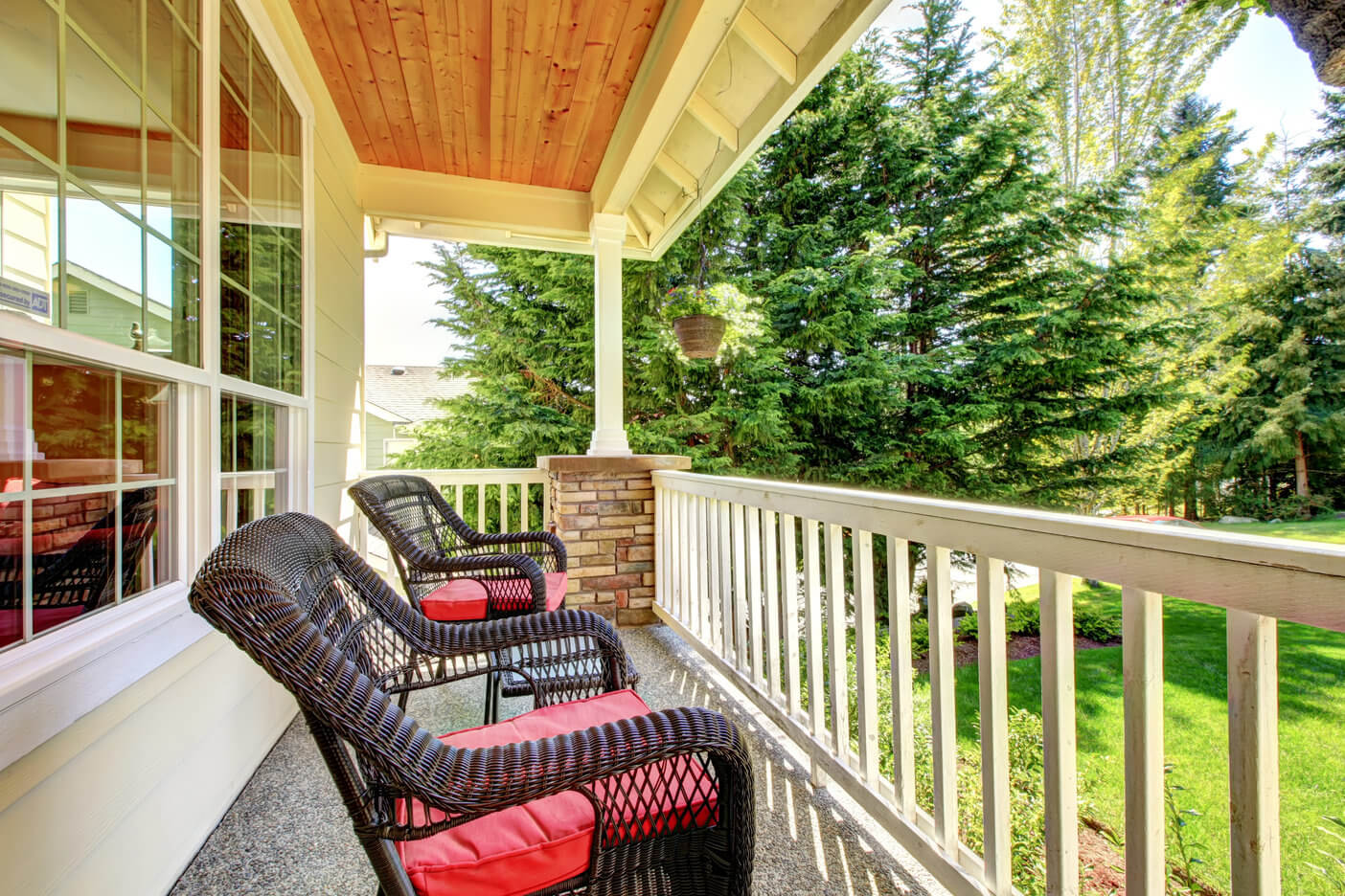porch with chair