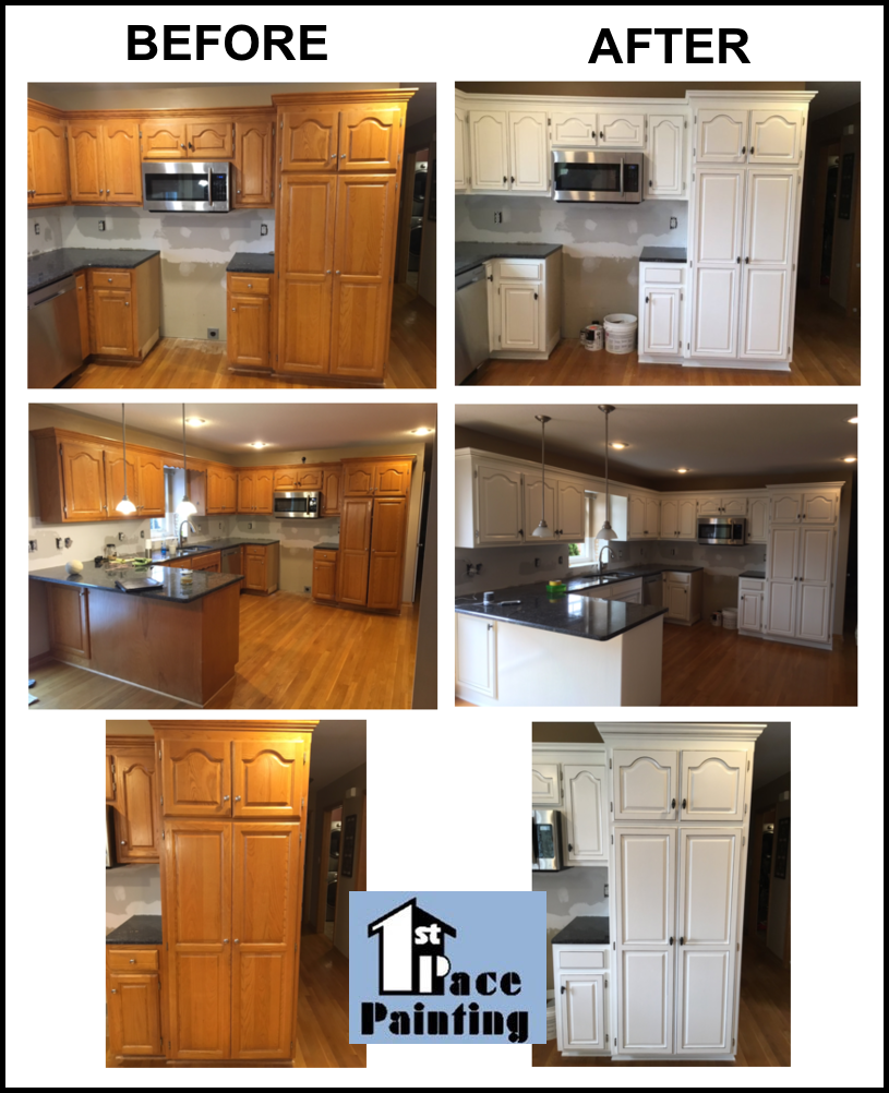 Cabinet Painting Cabinet Refinishing Painting Kansas City 1st Pace Painting